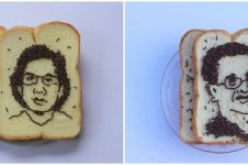 Viral, lukisan roti tawar dan meses wajah tenaga medis korban Covid-19