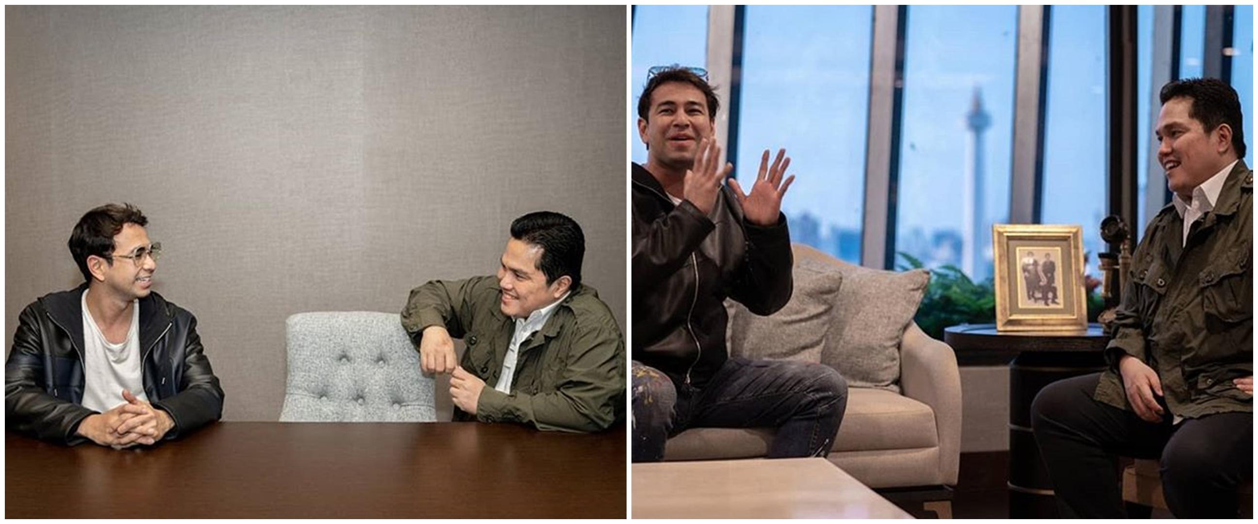 9 Potret ruang kerja Menteri BUMN Erick Thohir, jadi sorotan