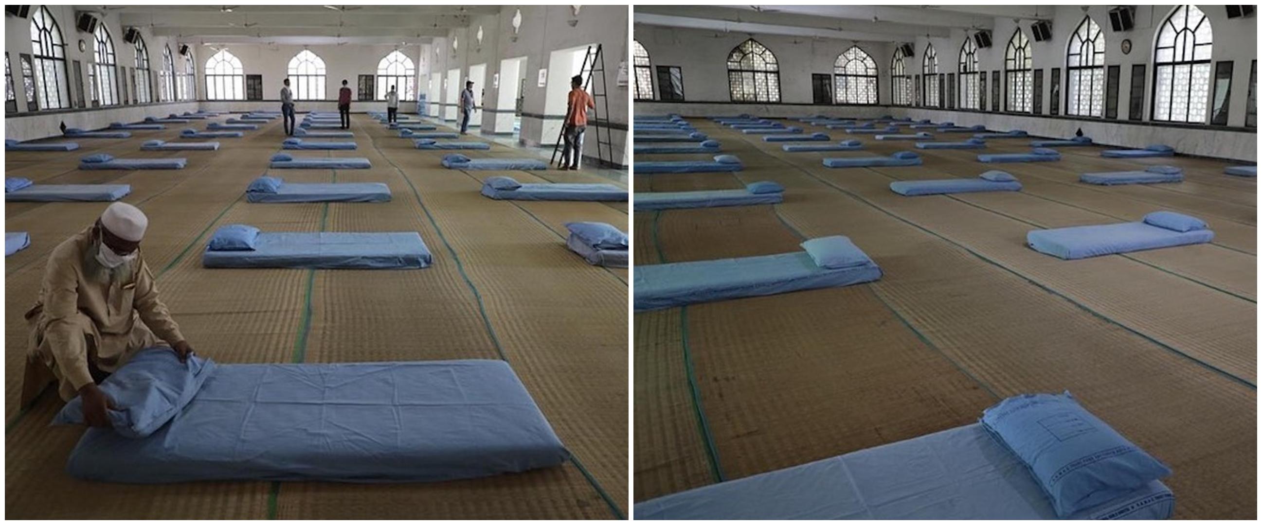 Pasien corona bertambah, masjid diubah jadi tempat karantina