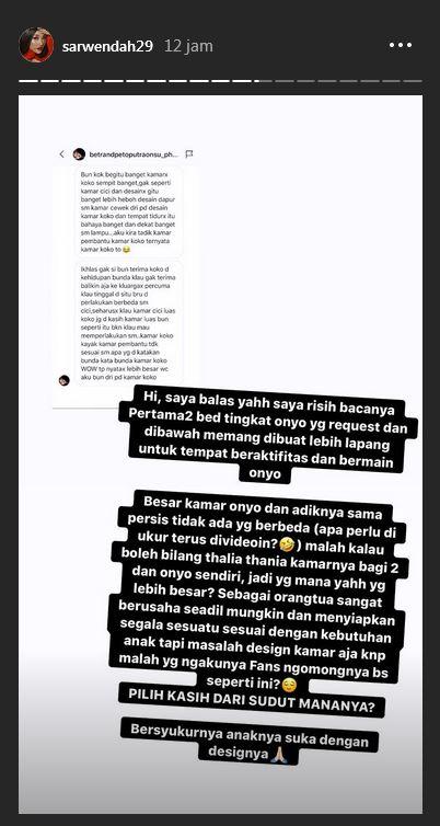 Sarwendah dibilang pilih kasih  Instagram