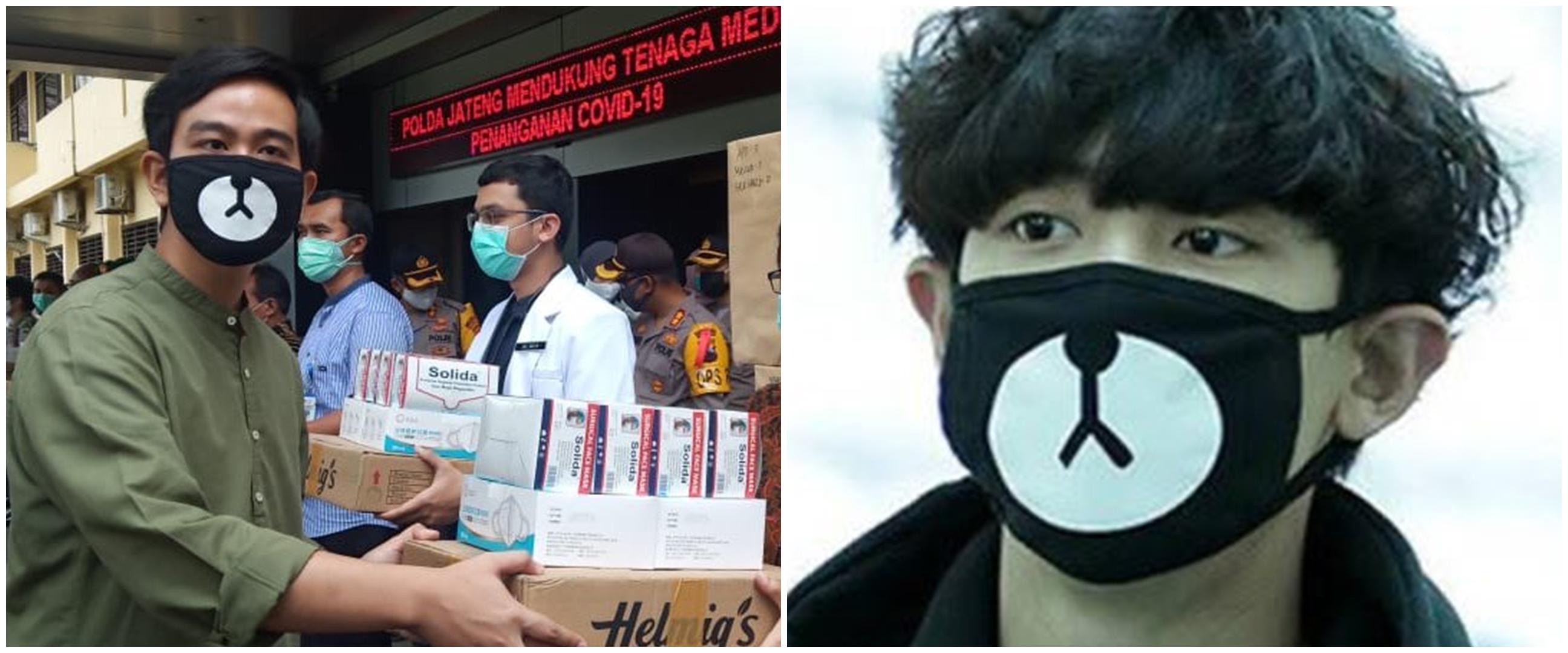 Gibran Rakabuming pakai masker Chanyeol EXO, ini reaksi Kaesang