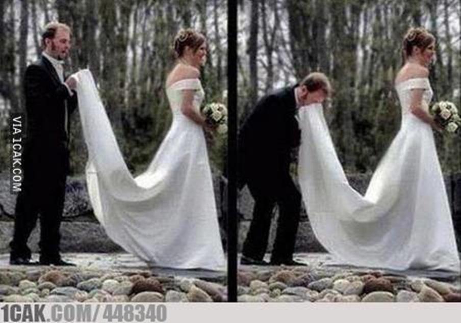 gaya nyeleneh pengantin waktu difoto © 2020 1cak.com