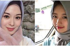 8 Potret seleb cantik Korea pakai hijab, bikin adem