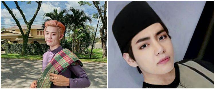 10 Foto editan idol K-Pop pakai baju koko, makin ganteng gitu