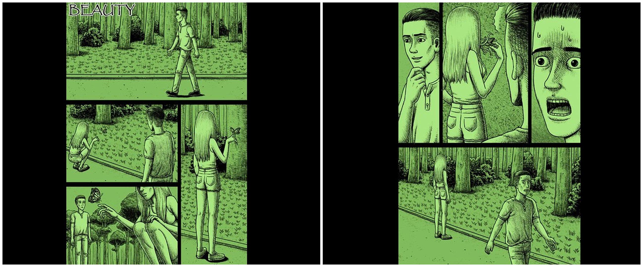 10 Komik strip tema horor ini endingnya bikin bergidik