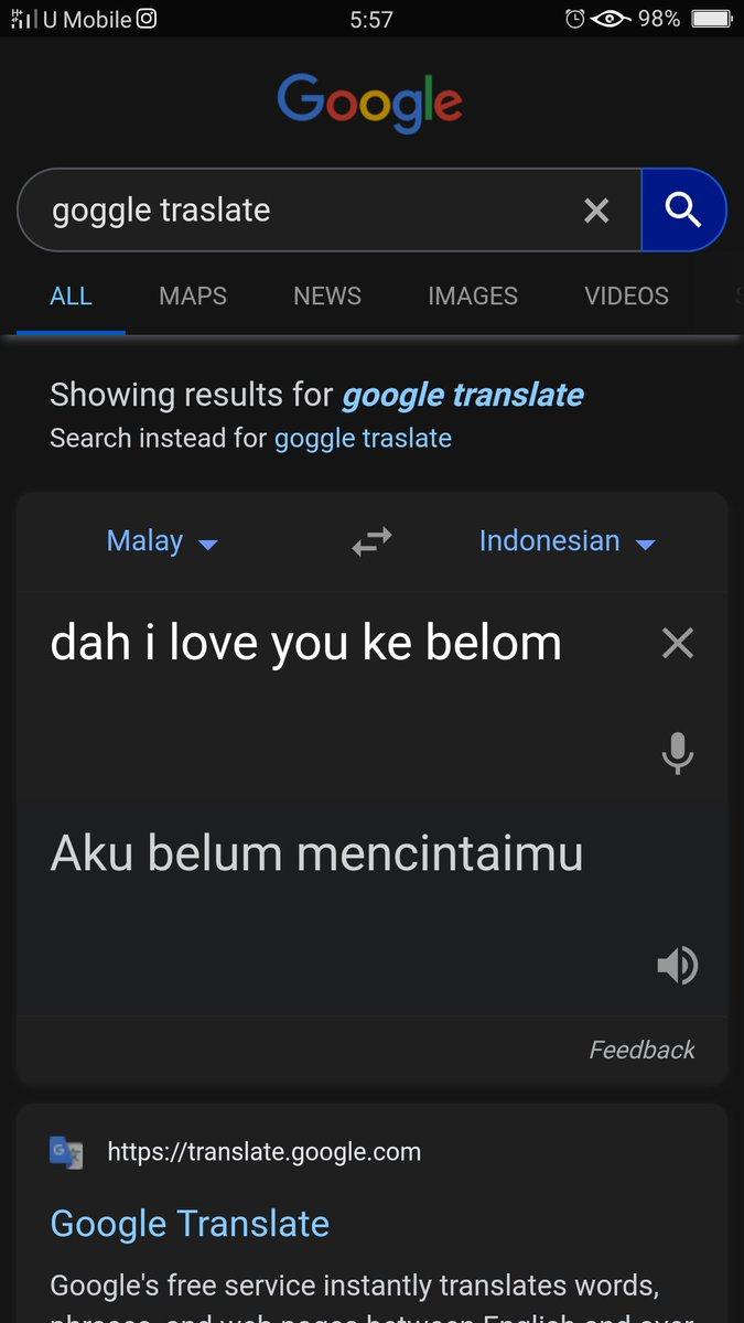 Terjemahan Malaysia Indonesia twitter