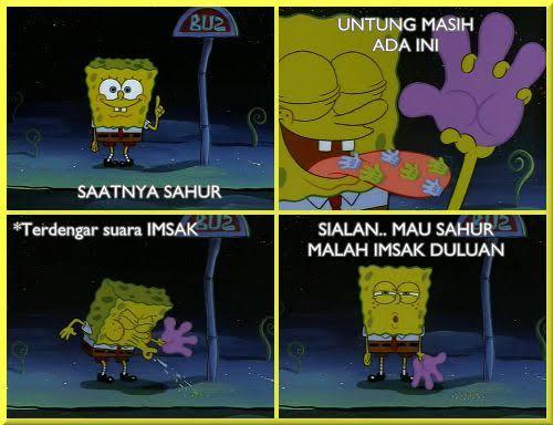 Meme SpongeBob buka puasa dan sahur Berbagai sumber