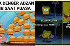 11 Meme SpongeBob buka puasa dan sahur, bikin tepuk jidat