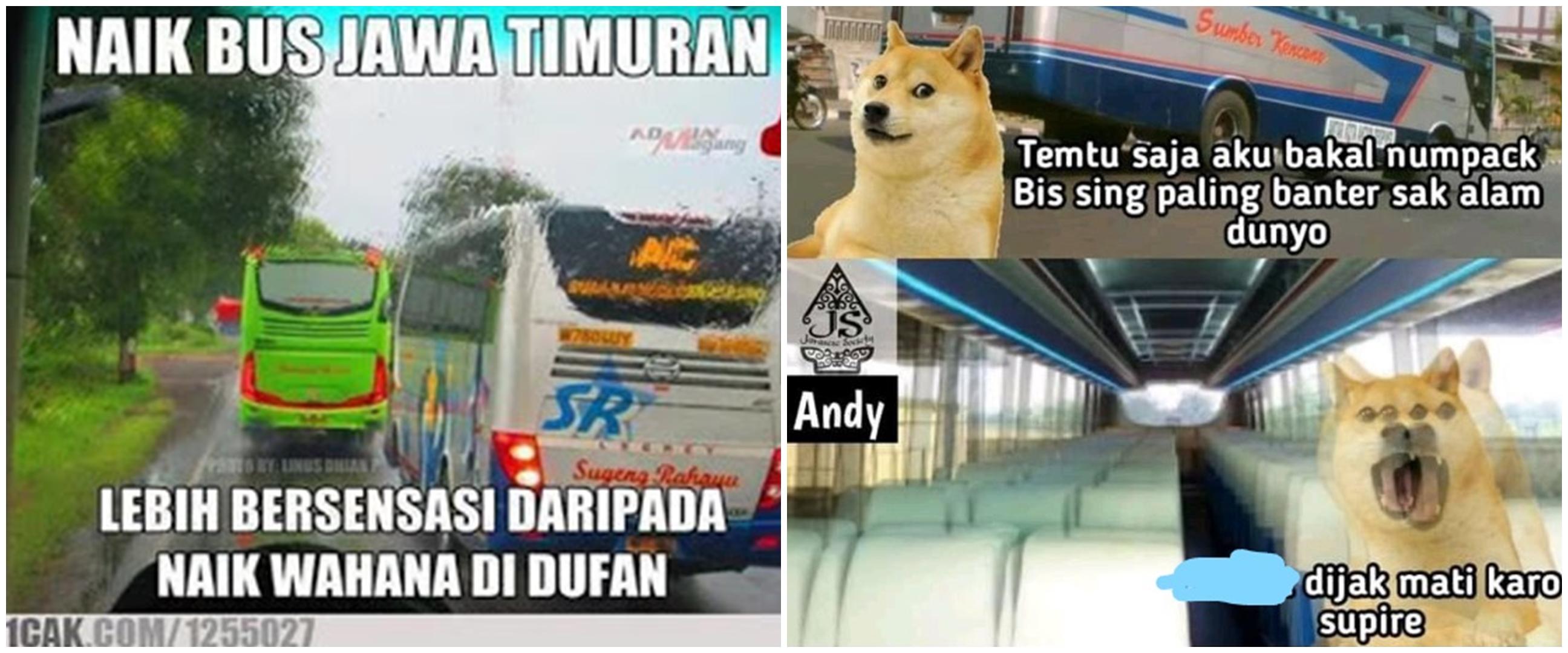 15 Meme cepatnya bus Indonesia, berasa roller coaster