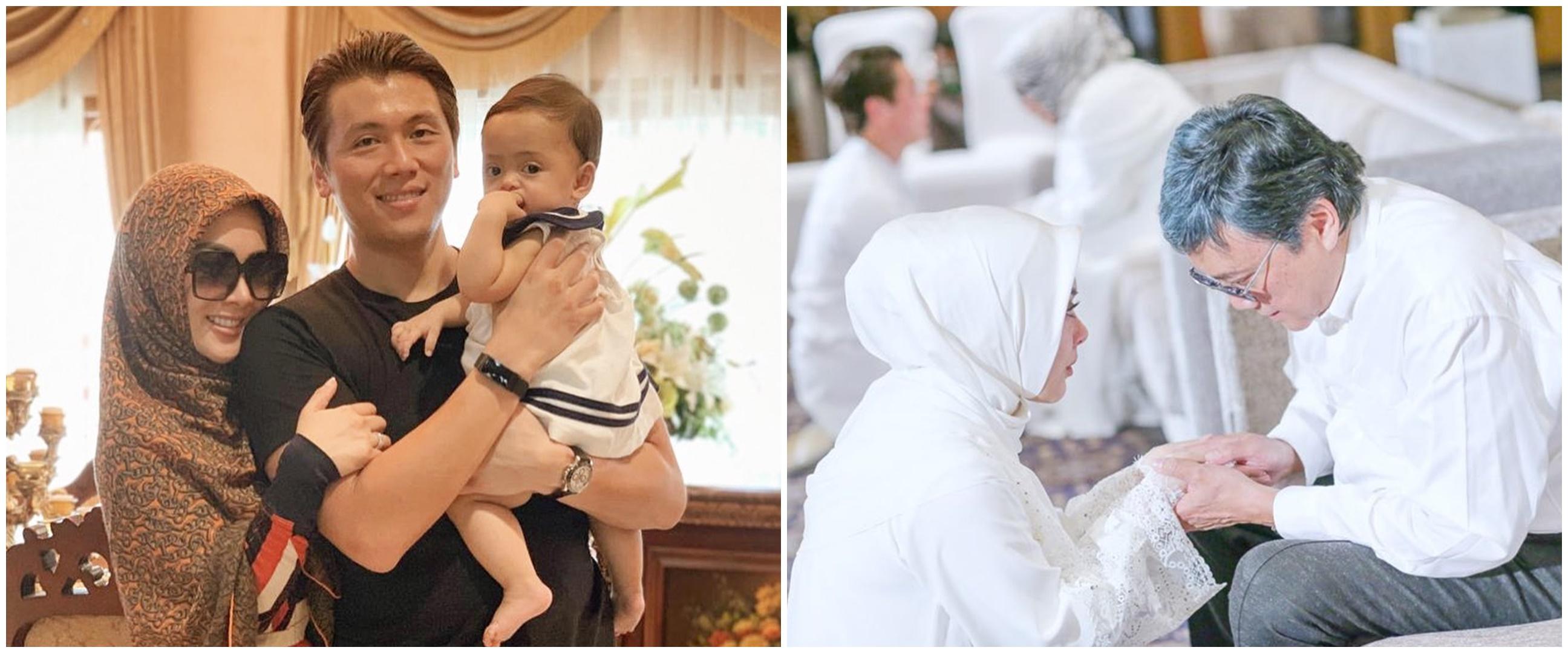 Papa mertua jadi imam salat tarawih, Syahrini ingat mendiang ayah
