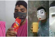 9 Ide kreatif bikin masker ekonomis ini bikin susah nahan tawa
