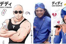 7 Seleb Indonesia dijadikan karakter anime, hasilnya keren banget