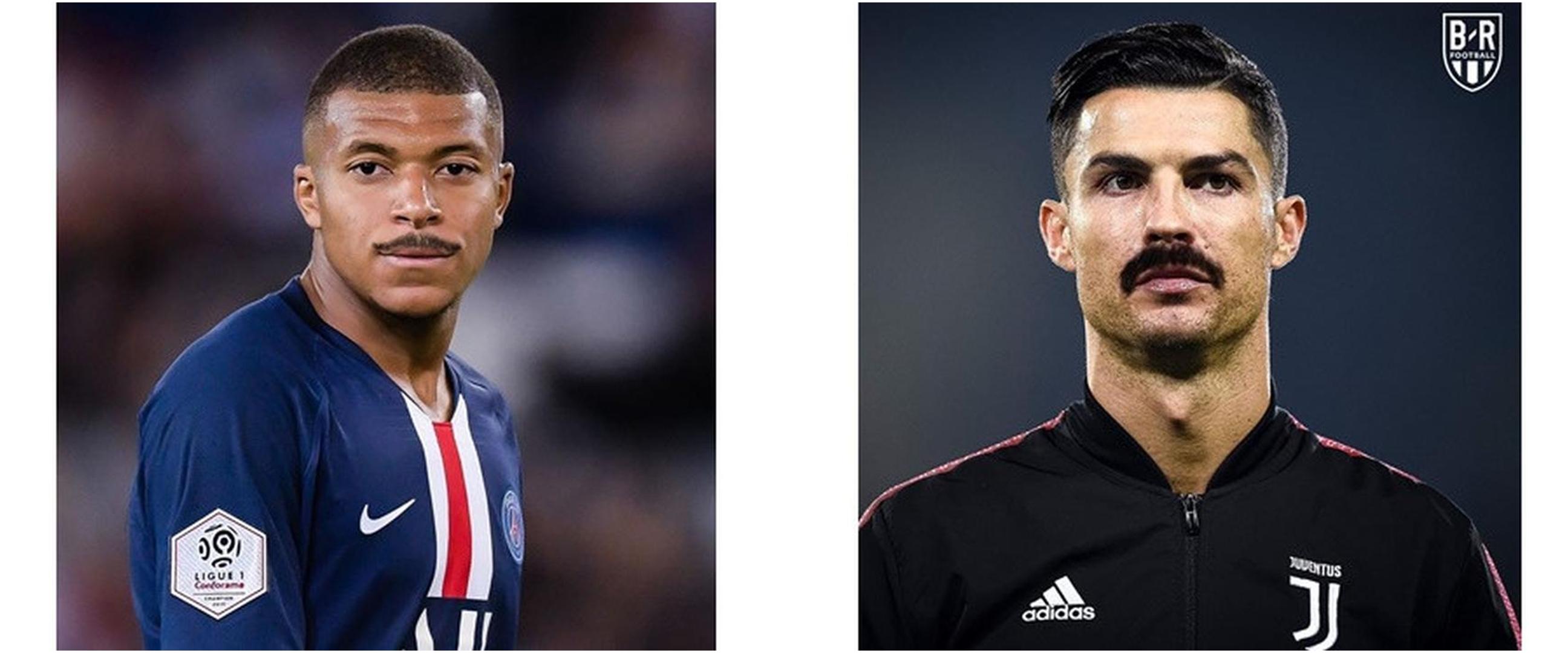 6 Editan foto pemain bola top Eropa berkumis, makin macho