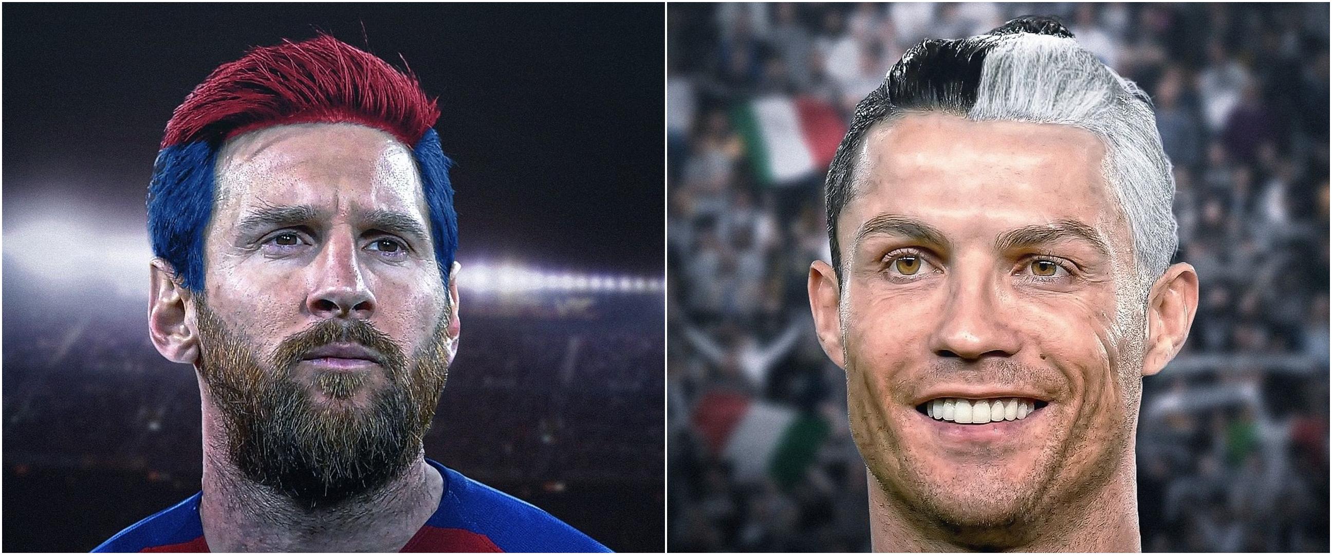 10 Potret editan rambut pemain bola sewarna jersey ini absurd