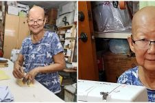 Persediaan menipis, nenek 71 tahun ikut jahit masker meski sakit
