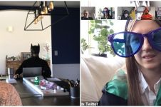 8 Potret orang pakai kostum nyeleneh saat video call, kocak