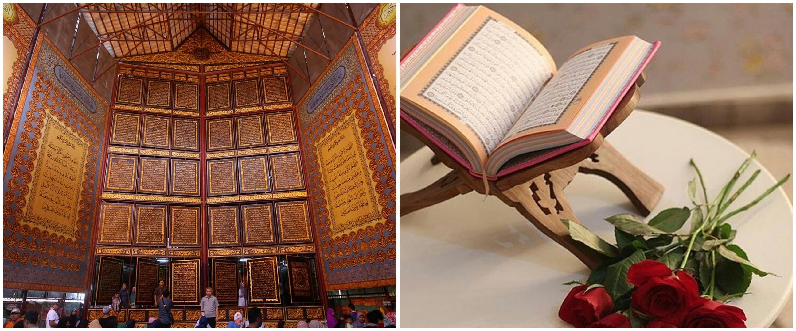 4 Mushaf Alquran terbesar di dunia, salah satunya di Indonesia