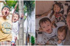 10 Beda gaya Ricky Harun dan Ridwan Ghani momong anak, ayah idaman