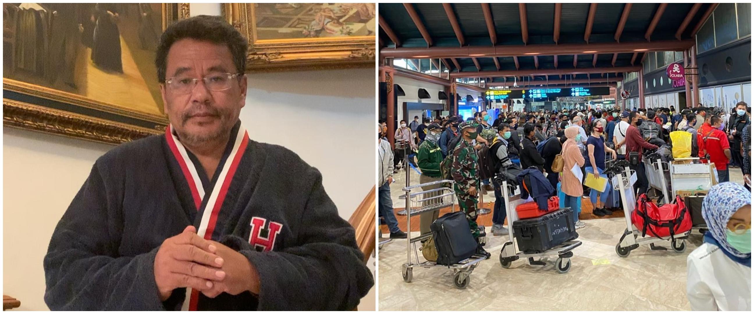 Bandara Soetta ramai antrean penumpang, ini reaksi kecewa 5 seleb