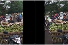 Viral aksi petani bagi-bagi sayuran di tengah pandemi, salut