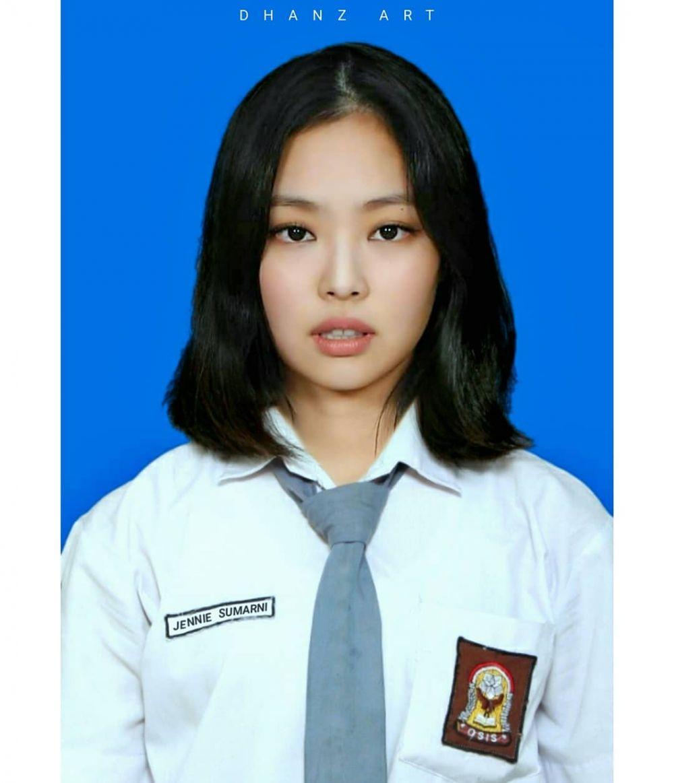 potret editan idol kpop pakai seragam sma instagram