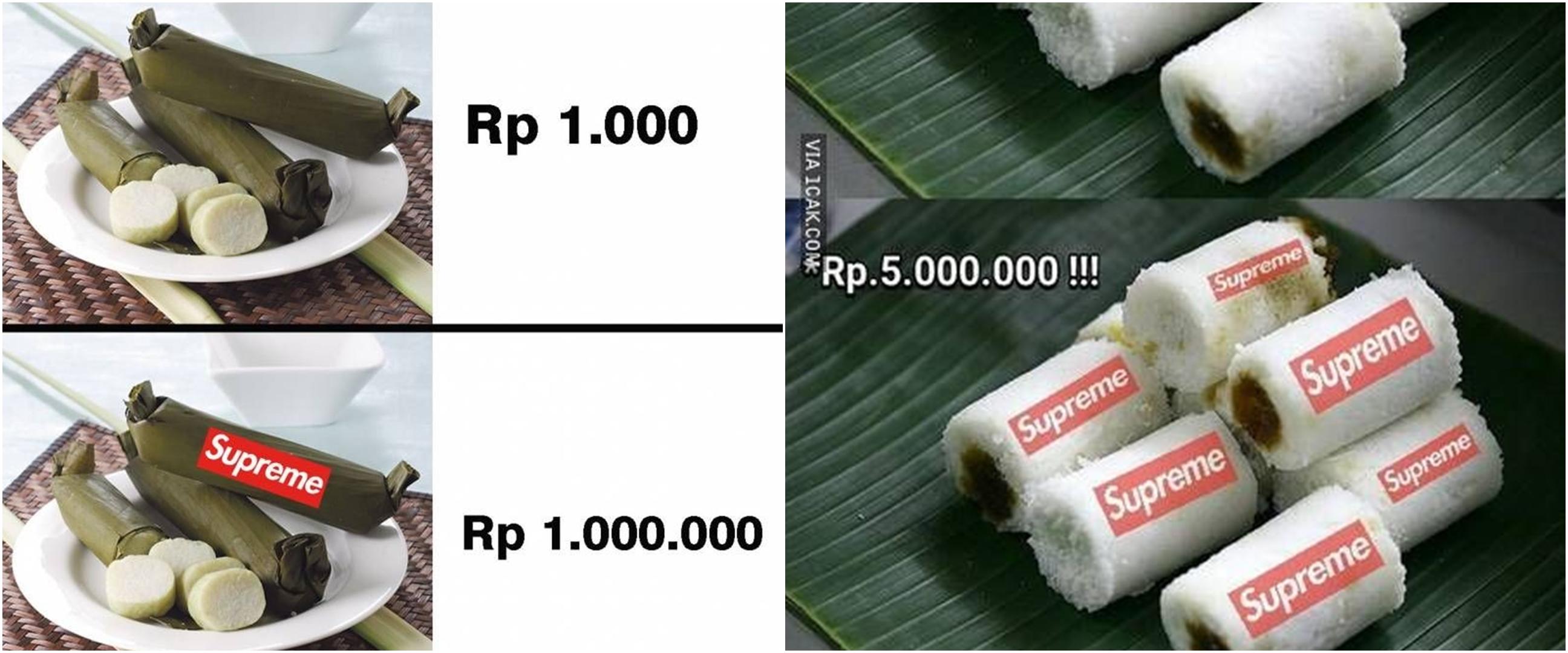 10 Meme lucu makanan Supreme ini bikin jiwa miskin bergetar