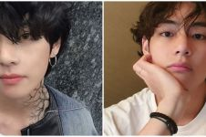 9 Potret V BTS tanpa makeup, bikin salah fokus