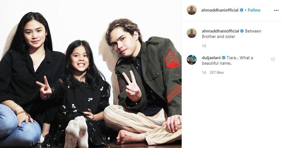 Komentar Dul Jaelani di unggahan Ahmad Dhani Instagram