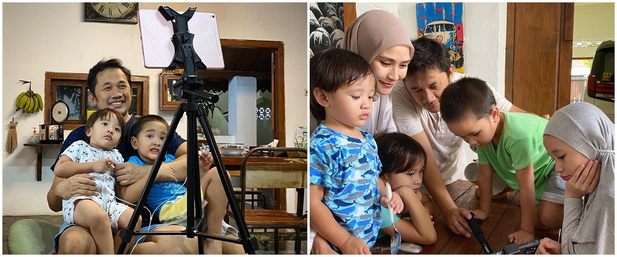 Isi kegiatan di rumah, anak Zaskia Adya Mecca ketagihan syuting