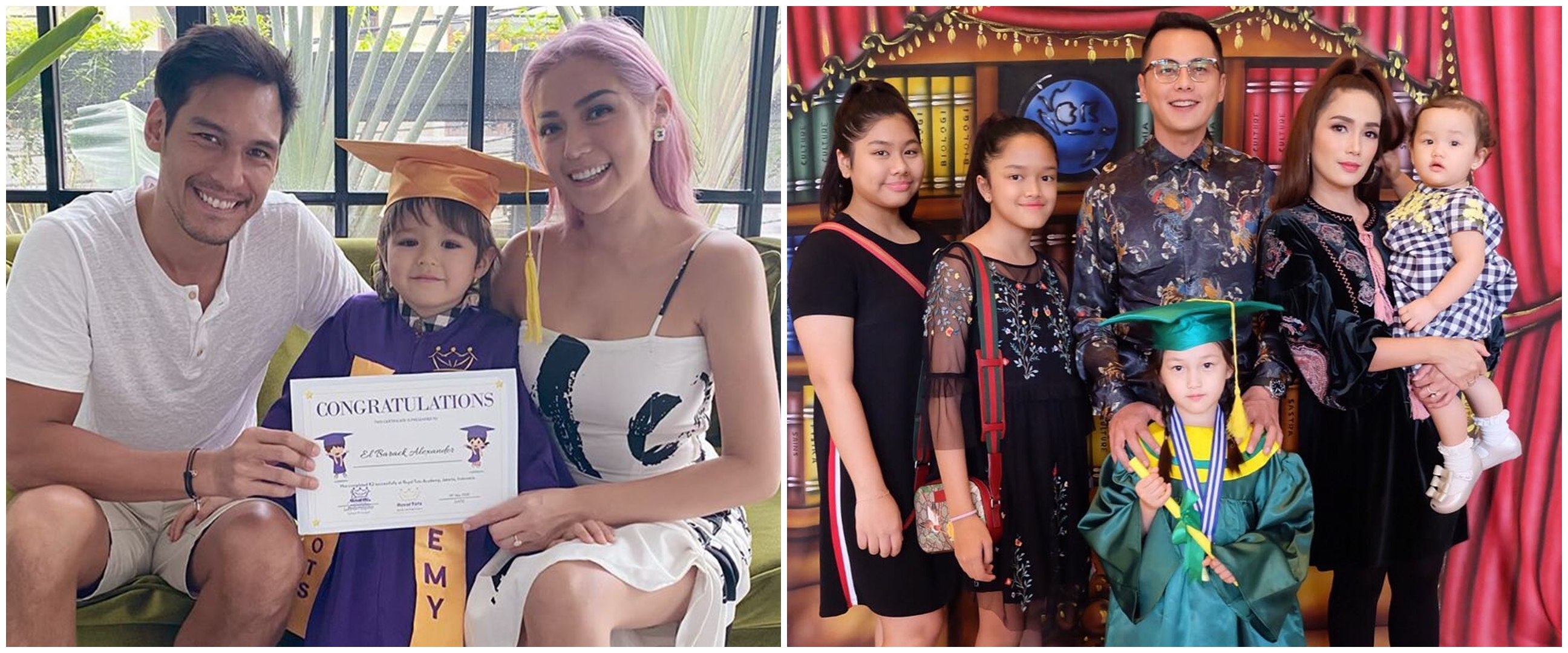 Pesona 7 seleb hadiri wisuda anak, Jessica Iskandar jadi sorotan