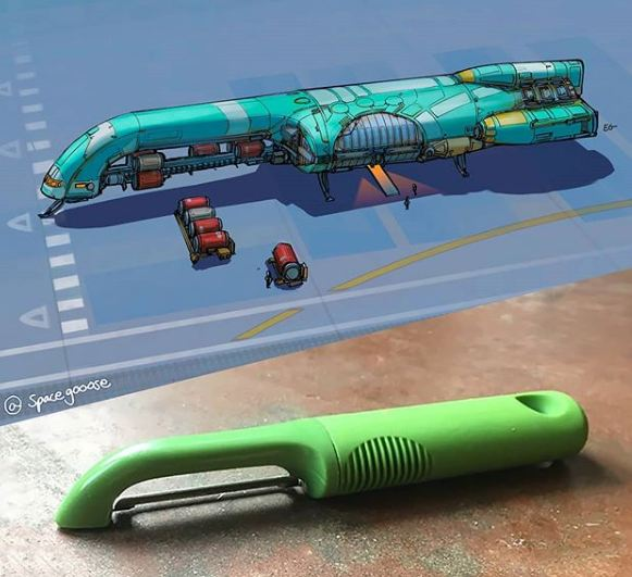 10 Ilustrasi spaceship ini terinspirasi © 2020 brilio.net