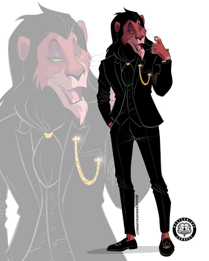 Gambaran jika hewan di film Lion King jadi manusia Istimewa
