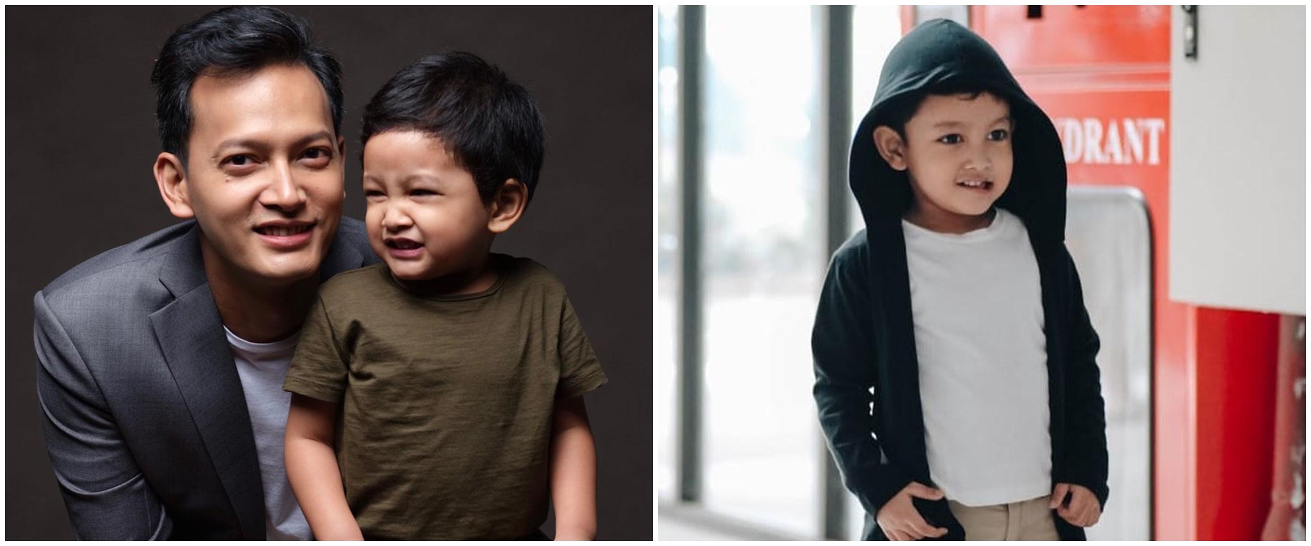 Jarang tersorot, ini 12 potret Hasan anak Fedi Nuril yang menggemaskan