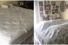 10 Aksi kocak suami saat merapikan tempat tidur untuk pertama kali