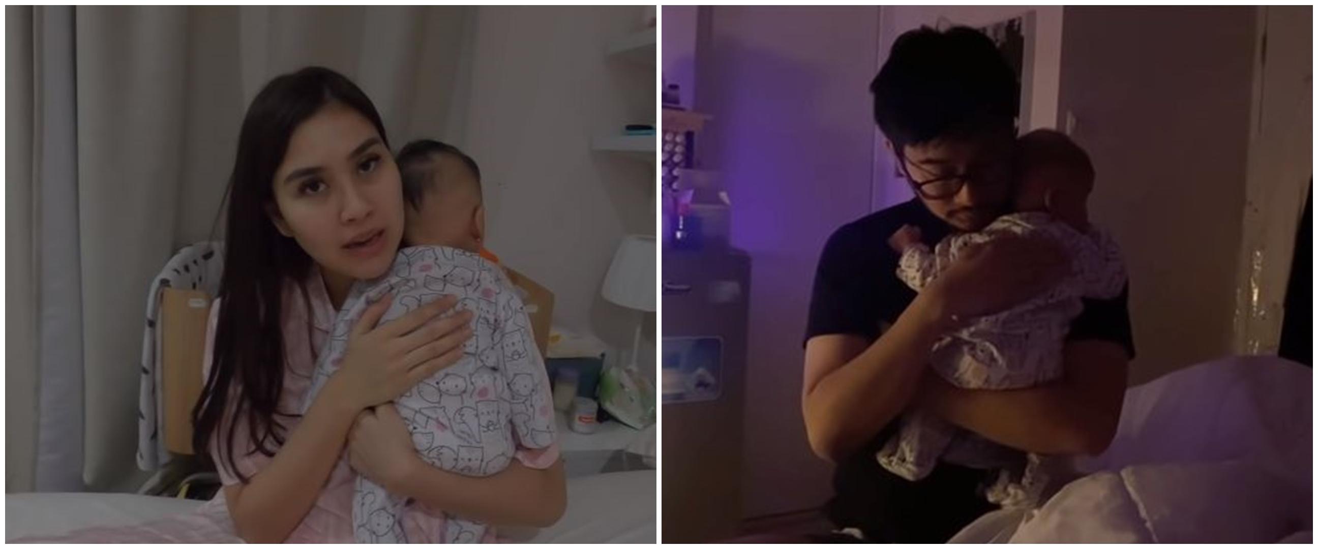 8 Momen Syahnaz & Jeje begadang tengah malam urus bayi kembar