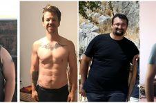 Potret 10 pria sebelum vs setelah diet ini perubahannya bikin takjub