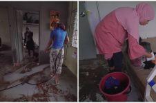 9 Potret rumah Gen Halilintar usai kebanjiran, sampah berserakan