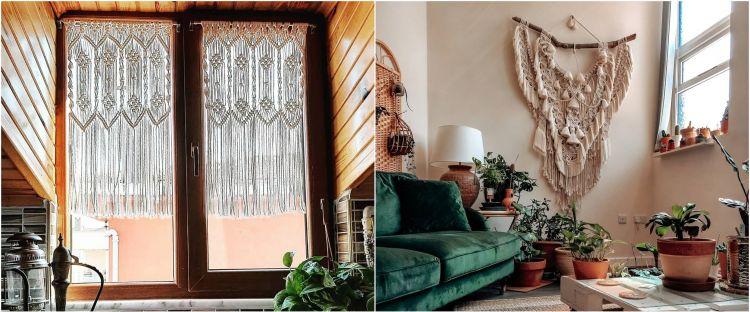 10 Inspirasi percantik rumah dengan kreasi macrame