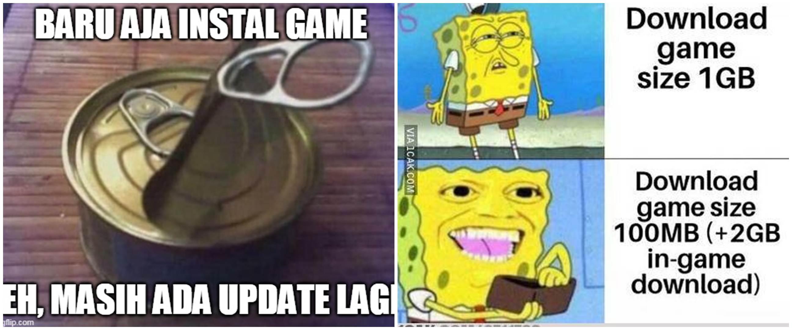 10 Meme lucu mau main game tapi lama download ini bikin geleng kepala