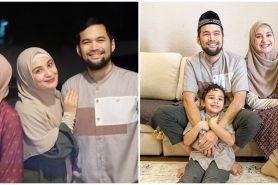 8 Momen Lebaran keluarga Zaskia dan Shireen Sungkar di rumah aja