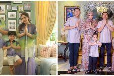 12 Potret keluarga seleb kenakan seragam Lebaran, kompak