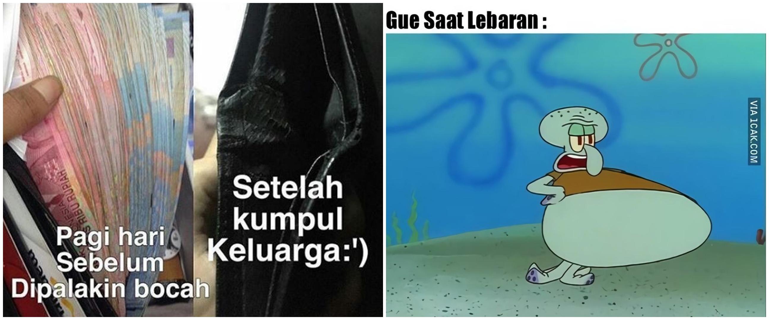 10 Meme lucu 'Lebaran telah usai' ini miris tapi kocak
