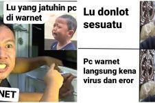 10 Meme lucu 'buat kesalahan di warnet' ini bikin deg-degan