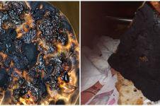 10 Penampakan pizza gosong ini bikin susah nahan tawa