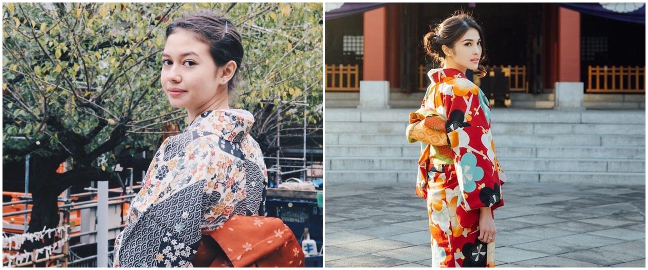 Potret 12 seleb cantik pakai kimono, pesonanya terpancar