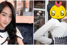 7 Pesona Sandrina IMB pakai hijab, bikin pangling