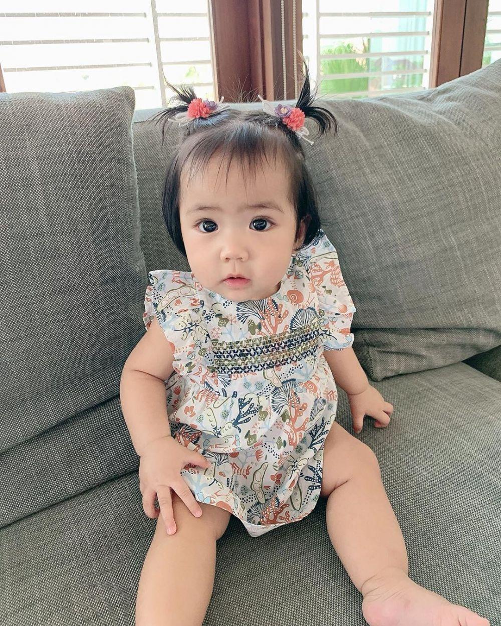 anak Momo Geisha dengan rambut kuncir air mancur © 2020 brilio.net