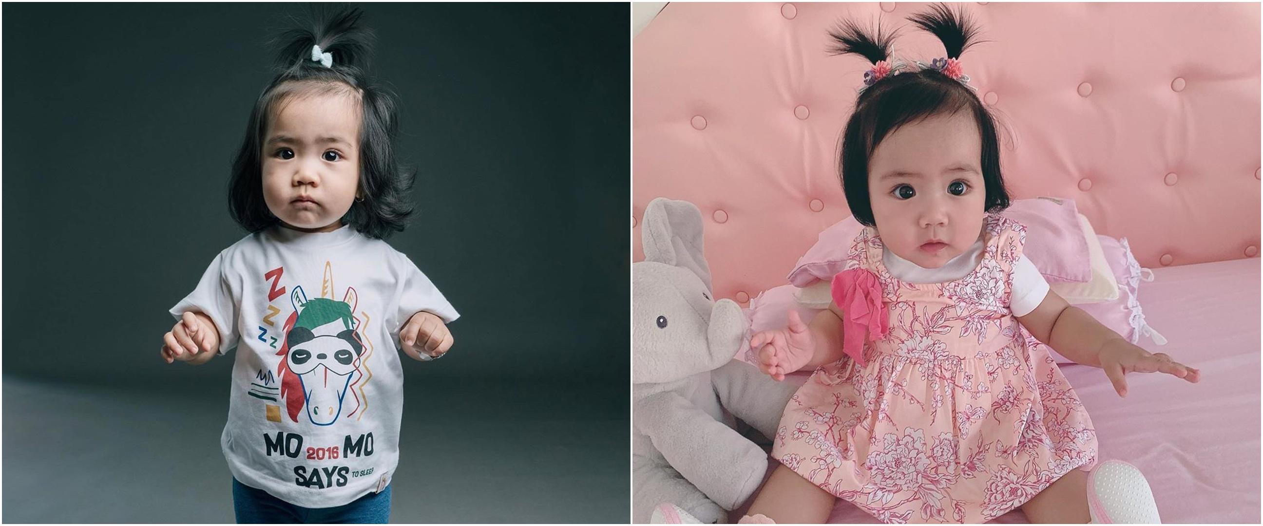 7 Potret menggemaskan anak Momo Geisha dengan rambut kuncir air mancur