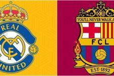 6 Editan gabungan logo klub bola Spanyol dan Inggris ini absurd