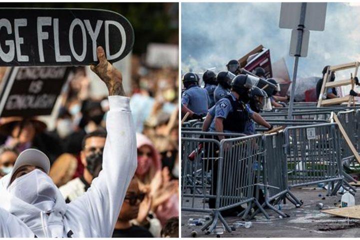 Ada cowok bertato pulau Indonesia ikut demo rusuh AS, ini identitasnya